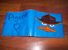 duct tape wallet Perry the Platypus wallet