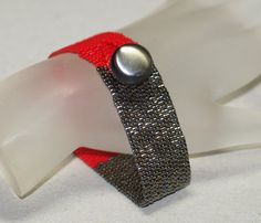 Color Block ... Peyote Bracelet . Cherry Red . by time2cre8, $44.00