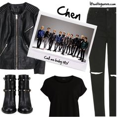 Chen from EXO M Call me baby MV inspired by look Call Me, Chen, Exo, Valentino, Topshop, Inspired, Polyvore, Baby, Stuff To Buy