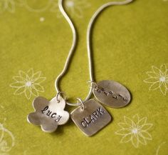 Mother's Charm Necklace by kellyannie on Etsy