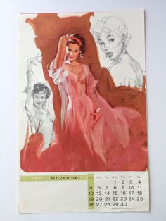 1961 Al Buell Pin Up November 1961 Buell's by sweetserendipityvint