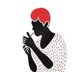 smoke, Bloody Dairy by Min Liu, #gif illustration #animation