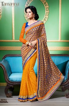 Product & Catalog: 2031-Rang Rasiya (cocktail) Type: Designer saree with work. Status: Available  Contact: +91-261-3113858, 3253858 For order: www.tamannasaree.com  #saree #indianwear #ethnicwear #festival #embroidery #designersaree