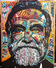 Robin Williams painting by artist Matt Pecson. Wouldn't this make you smile every time you looked at it? Click now to order one for your own home! Or also a great gift idea!!