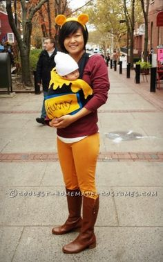 Easiest Mother-Baby Winnie the Pooh Costume... Coolest Halloween Costume Contest