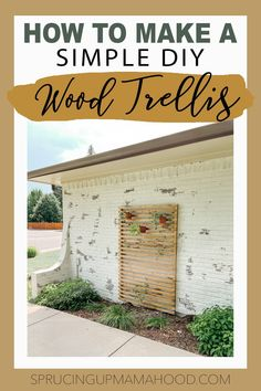 How to make a DIY Slatted Wood Trellis for your backyard or garden! Backyard Patio Designs, Backyard Ideas, Wood Trellis, Concrete Bricks, Summer Diy, Terracotta Pots, Hanging Planters, Home Decor Styles, Easy Diy