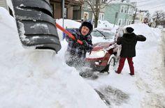 Последствия снегопада в Бостоне.  © edition.cnn.com