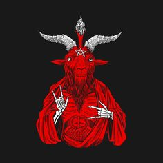 AntiChrist loves Baphomet goat Pagan Heretic 666 - Baphomet 666 - T-Shirt Devil Aesthetic, Red Aesthetic, Dark Art Illustrations, Illustration Art, Scary Art, Creepy, Satanic Art, Arte Obscura, Halloween Wallpaper Iphone