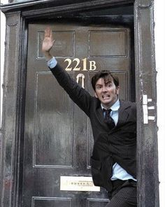 David Tennant in places he shouldn't be, just as Sherlock. m.facebook.com/...