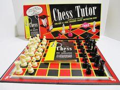 Lowe Vintage 1972 Chess Tutor Set - Original Box - Includes Beginners Chess Book #ESLowe