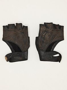 Yes Please - Henna Etched Leather Glove