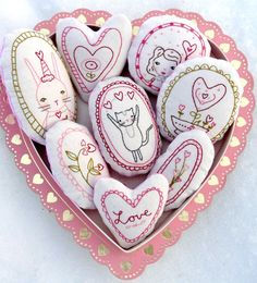 This Sweetest LOVE Ornaments embroidery Pattern PDF Shabby chic is just one of the custom, handmade pieces you'll find in our patterns & blueprints shops. Valentine Banner, Valentine Crafts For Kids, Valentines Day Decorations, Valentines Day Drawing, Valentine Day Love, Valentine Hearts, Hand Embroidery Designs, Embroidery Patterns, Quilt Patterns