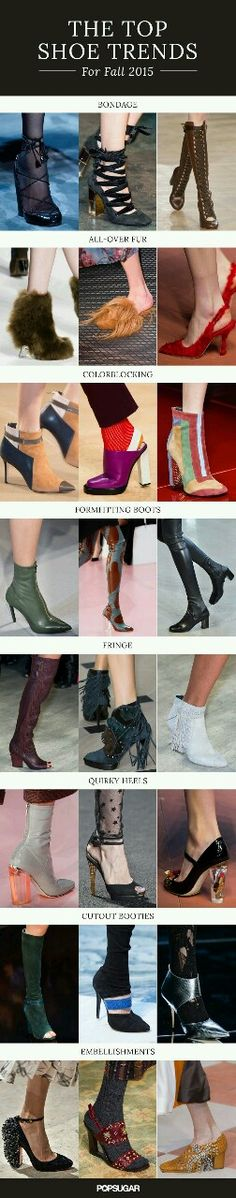 The top shoe and boot trends from the Fall 2015 runways.