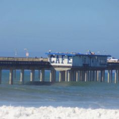 On the pier in San Diego Ocean beach.