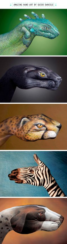 Not really fashion/style related but Guido Daniele's hand art is seriously so cool! Click through for even more awesome photos! (via Beautylish)