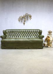 Green Vintage Leren Chesterfield Lounge Bank Green Leather Sofa Botanic Leather Sofa Green Leather Sofa Chesterfield Lounge