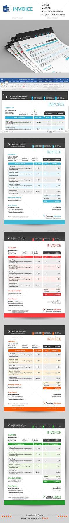 Invoice Moderna Include, Fonts and Cs - proposals templates