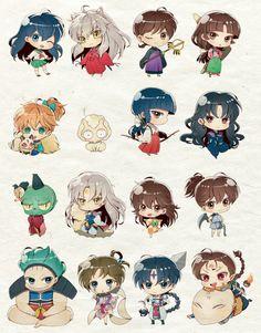 The InuYasha Characters Inuyasha Memes, Inuyasha Funny, Inuyasha Fan Art, Inuyasha And Sesshomaru, Kagome And Inuyasha, Miroku, Kagome Higurashi, Manga Anime, Anime Art