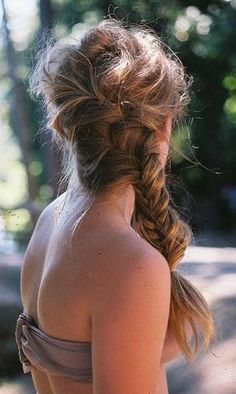 Sexy messy beach braid