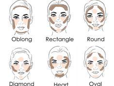 properly contouring make-up makeup face shape specific .- richtig konturieren anfänger schminken gesichtsform bestimmen make-up properly contouring make-up make-up make-up determine make-up up - Makeup Contouring, Makeup 101, Makeup Guide, Makeup Hacks, Contouring And Highlighting, Makeup Inspo, Makeup Inspiration, Contouring For Oval Face, Makeup Ideas
