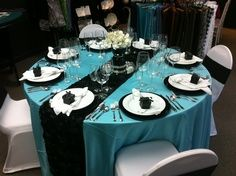 maybe this idea for the tables with chocolate brown instead of black.