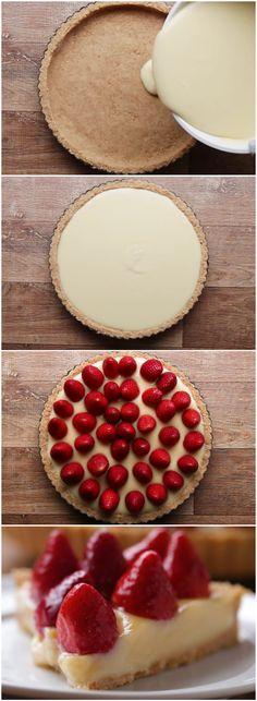 TORTA DE MORANGO COM LEITE EM PÓ (veja a receita passo a passo) #torta #morango #leiteempó