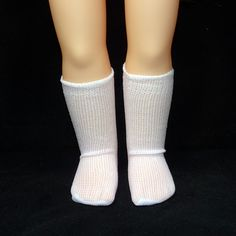 These small white socks are perfect for wearing with Mary Janes or Canvas Sneakers. Suitable for small dolls such as Disney Toddler, Wellie Wisher, Corolle Les Cherie, Gots Just Like Me and Little Baby Born. Girl Doll Clothes, Girl Dolls, American Girl Wellie Wishers, Wellie Wishers Dolls, Canvas Sneakers, Sock Shoes, Little Babies, Mary Janes, Socks