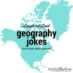 "Laugh out Loud with these Funny Geography Jokes In our homeschool, our family adheres to the philosophy: ""Homeschool is a Misnomer. We are hardly ever home, and it certainly doesn't look like school."" One of our favorite ways to engage our boys in reading has always been kid-friendly jokes. I hope you like this assortment …"