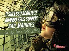 O sucesso acontece quando seus sonhos são maiores que as suas desculpas. #sucesso #sonho #desculpa