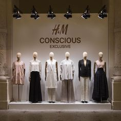 """H&M,Musee des Arts Decoratifs, Paris, France, """"We continue our work towards a more sustainable fashion future with the new Conscious Exclusive Spring Collection"""", pinned by Ton van der Veer"""