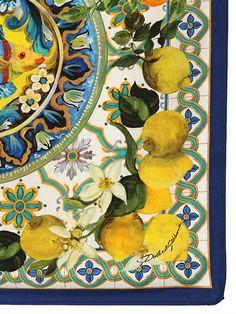 Down by the river Italian Pottery, Lemon Print, Scarf Design, Illustration, Capri, Artsy, Abstract, Wallpaper, Drawings