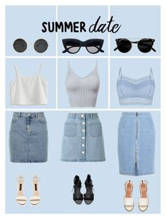 """""""summer"""" by nblhhrs ❤ liked on Polyvore featuring Chicwish, Topshop, Miss Selfridge, Lipsy, Steve J & Yoni P and Forever New"""