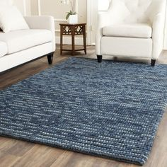 Hand-woven Blue Jeans Denim Rug (5' x 8') | Overstock.com Shopping - The Best Deals on 5x8 - 6x9 Rugs