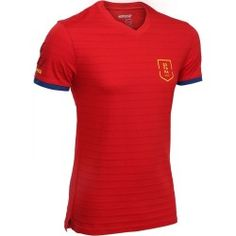 Fp300 Spain Supporter Shirt Football Kits, Decathlon, Online Business, Shop Now, Spain, Cotton Fabric, Polo Ralph Lauren, Kids, Mens Tops