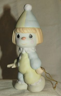 BLESS THE DAYS OF OUR YOUTH 1985 Precious Moments Clown Boy Figurine Precious Moments Retired and out of production