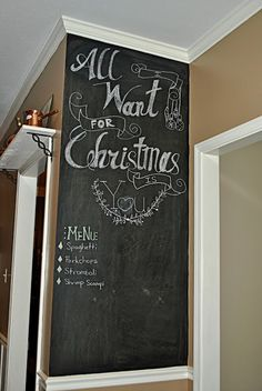 I Have A Chalkboard Menu Wall In My Home And Love It! | From House To Home  | Pinterest | Chalkboard Walls, Chalkboards And Blackboard Wall