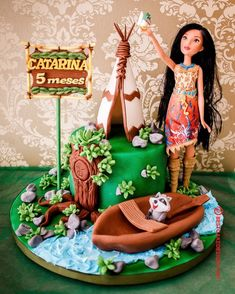 50 Most Beautiful looking Pocahontas Cake Design that you can make or get it made on the coming birthday. Pocahontas Cake, Pocahontas Birthday Party, Cake Designs Images, Cool Cake Designs, First Birthday Parties, First Birthdays, Birthday Cake, Indian Party Themes, Disney Inspired Wedding