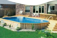Above Ground Pool Deck Off House image result for pallet deck for above ground pool | pool ideas