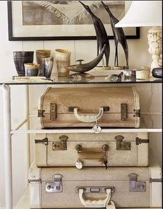 Display of old suitcases  - Vignettes by megan
