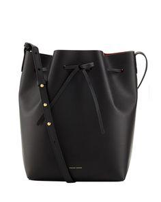 Coated Leather Bucket Bag by Mansur Gavriel at Bergdorf Goodman.