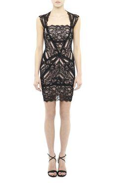 Eva Black Lace Dress - Little Black Dress - Dresses  Love the neckline and cut of this dress