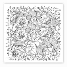 Religious Coloring Books for Adults . Religious Coloring Books for Adults . Free Christian Coloring Pages for Adults Roundup Bible Verse Coloring Page, Coloring Pages To Print, Coloring Book Pages, Coloring Sheets, Scripture Art, Bible Art, Bible Verses, Zentangle, Free Adult Coloring