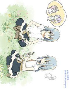 Tensei shitara slime datta ken by 未琴圭 Slime, Karma Y Nagisa, Blue Hair Anime Boy, Anime Siblings, Dungeons And Dragons Homebrew, Anime One, Fanarts Anime, Otaku, Manga Games