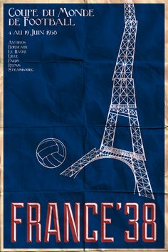 posters for every football world cup since 1930 by james taylor (http://pennarellodesign.com)