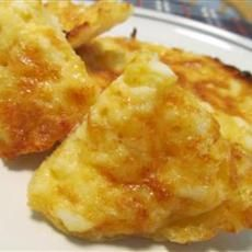 So easy to make and soooo good.  Crab Puffs  - use Old English Cheddar Cheese, crab and English Muffins.