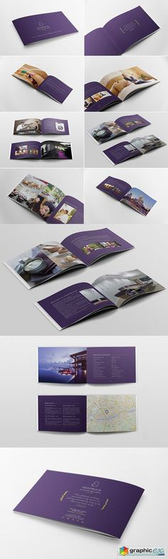 Hotel Brochure Brochure Format, Brochure Examples, Brochure Layout, Design Brochure, Brosure Design, Layout Design, Design Food, Hotel Brochure, Luxury Brochure