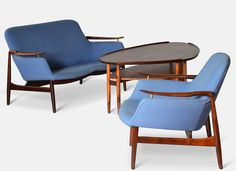Finn Juhl for Niels Vodder, Sofa Group NV53 in 1953
