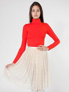 American Apparel - Lace Mid-Length Skirt $55.00