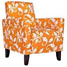 Can I change out my chairs for the season? This is too perfect for fall! - Sutton Vine Arm Chair in Pumpkin