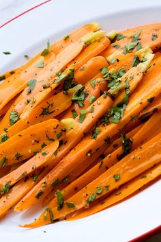 This is a French classic, carrots Vichy, or glazed carrots. The idea is simply to cook the carrots with some sugar, water, lemon juice and butter until they are tender and glazed with the melted sugar. Care must be taken to avoid overcooking and burning the sugar mixture. (Photo: Karsten Moran for The New York Times)